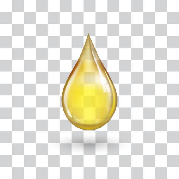 1 つの大きな黄色ドロップ - 水滴点のイラスト素材/クリップアート素材/マンガ素材/アイコン素材