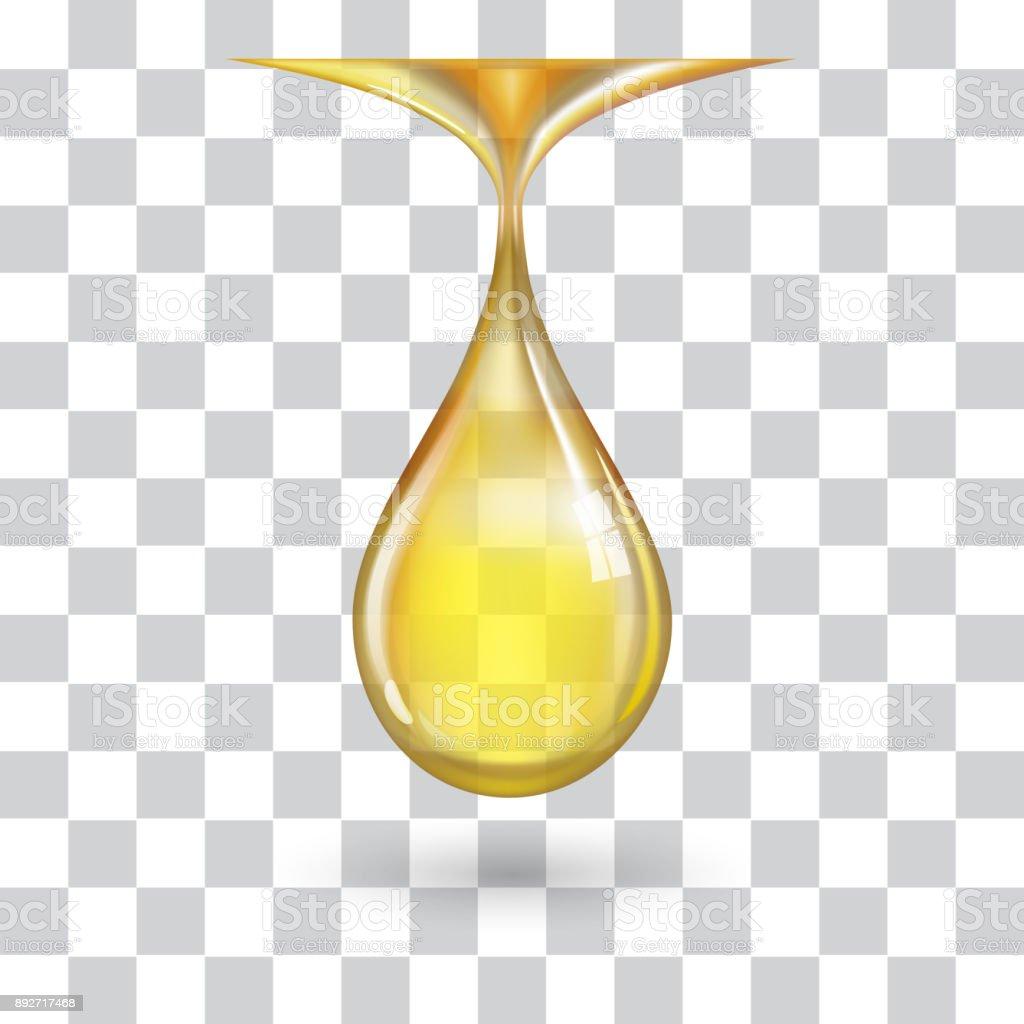 Una gota de amarillo grande - ilustración de arte vectorial