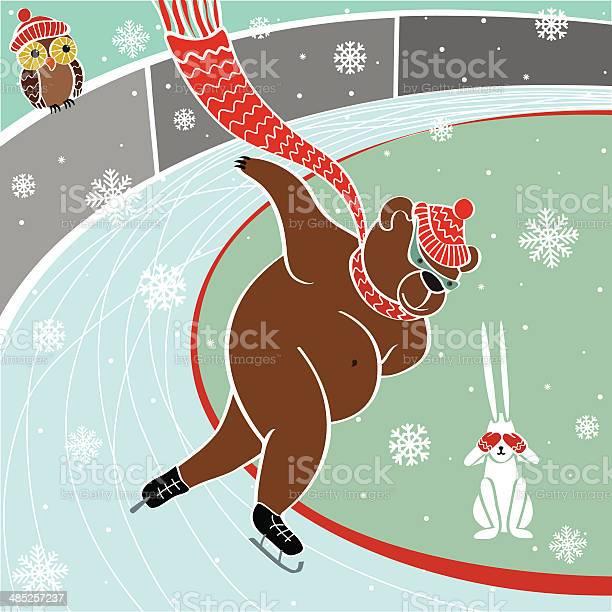 One brown bear is sprinter skatingvector humorous illustration vector id485257237?b=1&k=6&m=485257237&s=612x612&h=aqpso96rx9zeyw2qilzg1vb3sjxofkqeozji76lum8q=