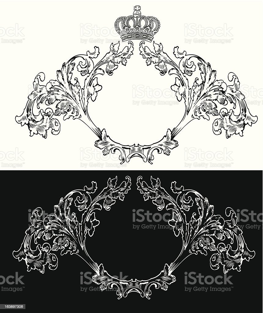 One Color Royal Frames royalty-free stock vector art