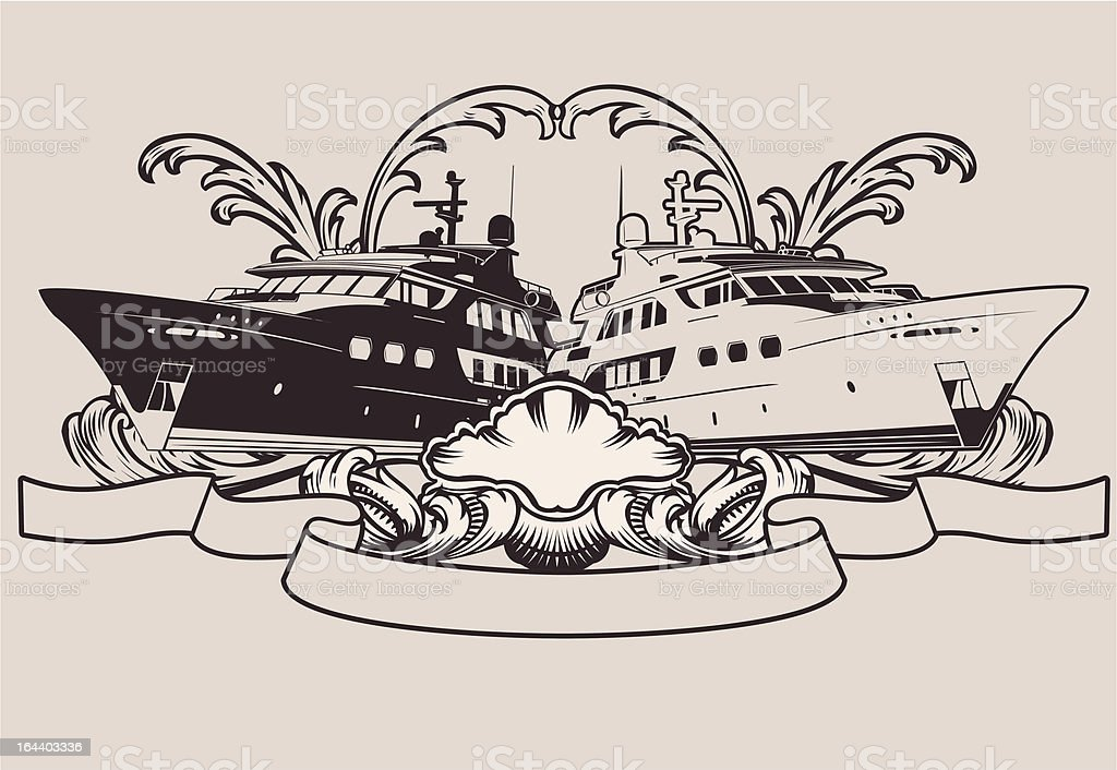 One Color Vintage Marine Ship Sign royalty-free one color vintage marine ship sign stock vector art & more images of art product
