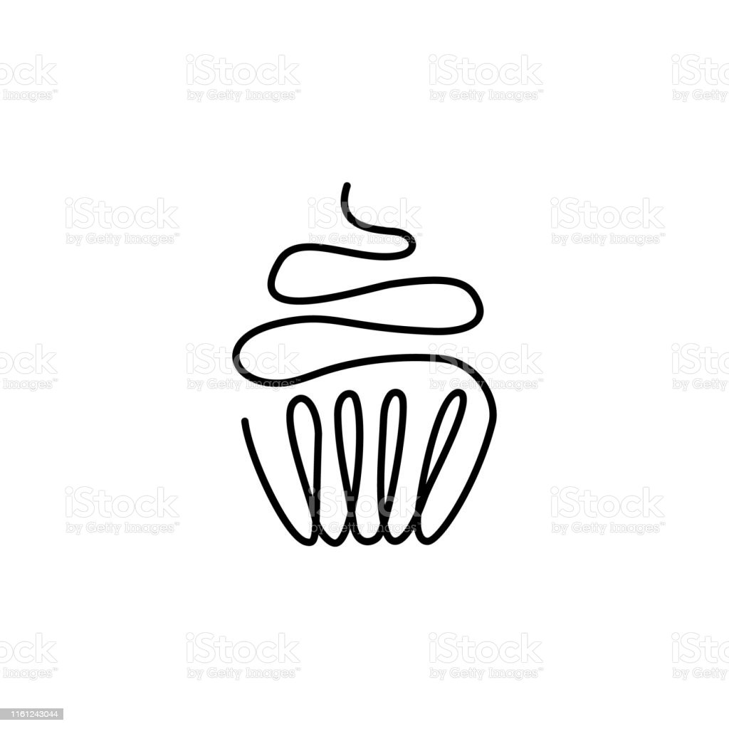 Groovy One Continuous Drawn Line Of Birthday Cake With A Candle Painted Personalised Birthday Cards Vishlily Jamesorg