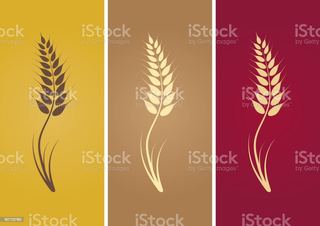 One credit wheat royalty-free stock vector art