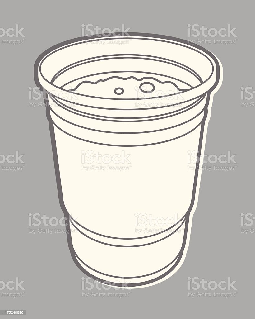 One Cup vector art illustration