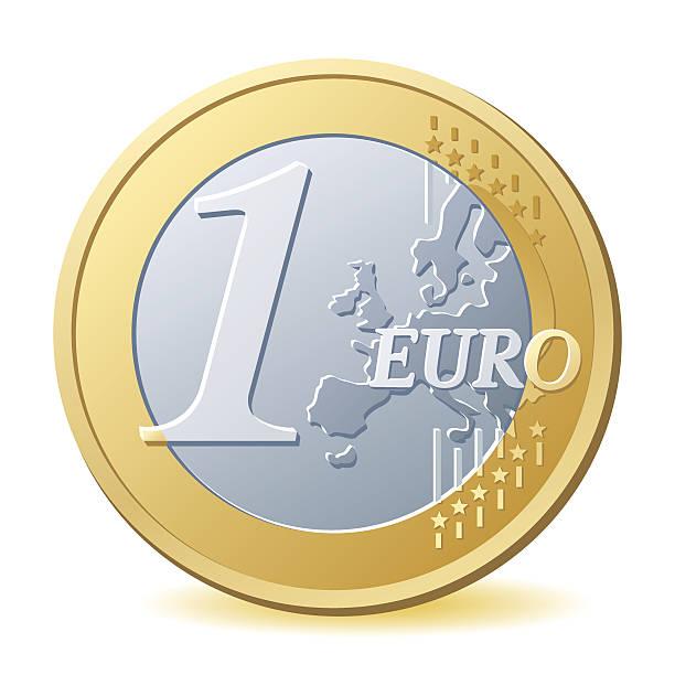 ein-euro-münze - euros cash stock-grafiken, -clipart, -cartoons und -symbole