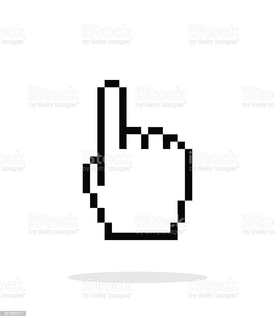 one finger pixel hand cursor icon on white background stock vector rh istockphoto com cursor hand vector eps hand cursor vector sketch