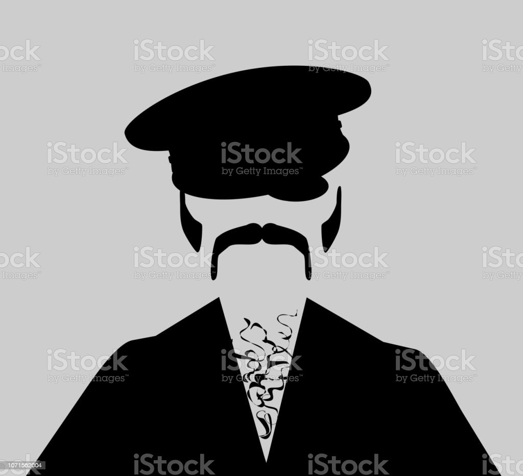 man leather hat vector art illustration