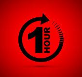 istock One hour arrow icon 1093734460