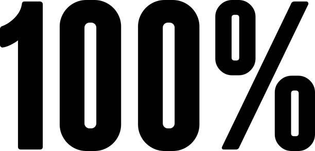 bildbanksillustrationer, clip art samt tecknat material och ikoner med hundra 100% ikonen med long shadow - nummer 100