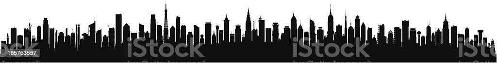 One Hundred Detailed Buildings (Buildings Are Moveable and Complete) vector art illustration