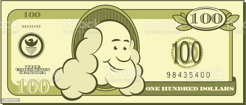 One Hundred Dollar Bill - Cartoon royalty-free one hundred dollar bill cartoon stock vector art & more images of american culture