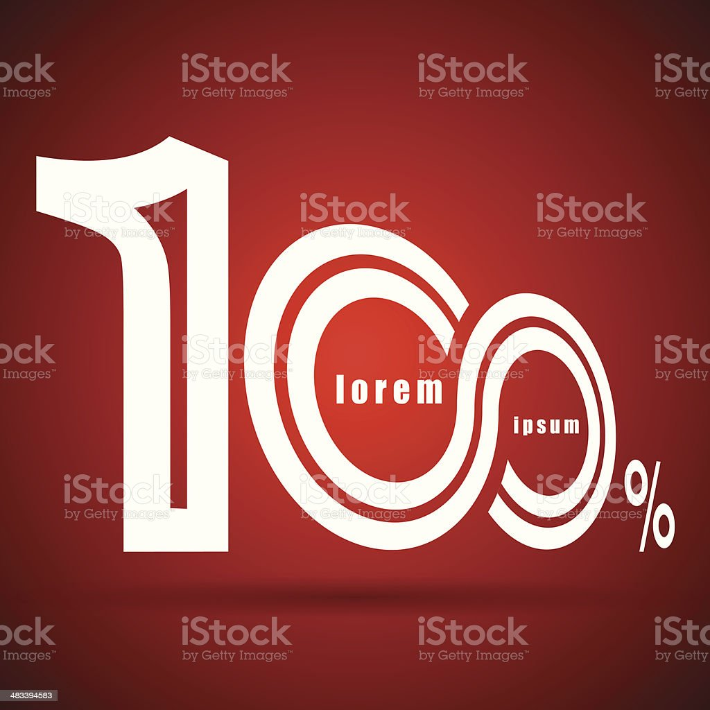 one hundred percent vector royalty-free stock vector art