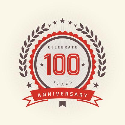 One hundred years Anniversary emblem