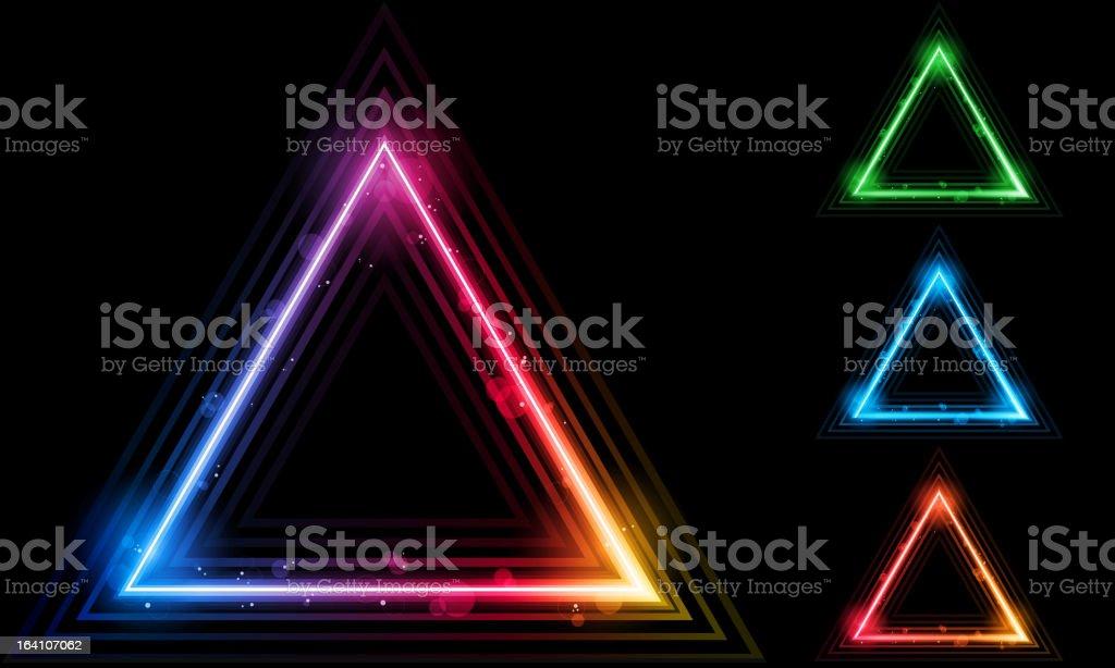 One large triangle with three smaller triangles royalty-free stock vector art