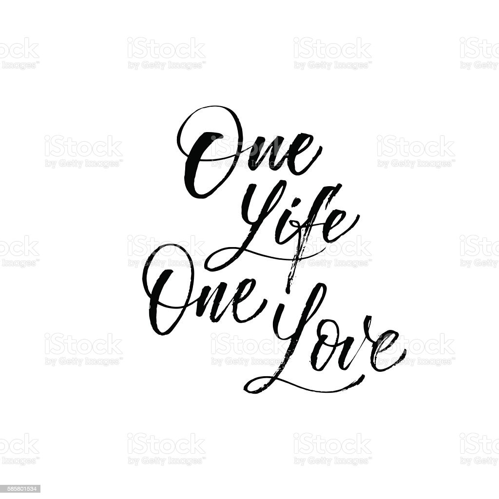 One Life One Love Card Stock Vector Art More Images Of Abstract