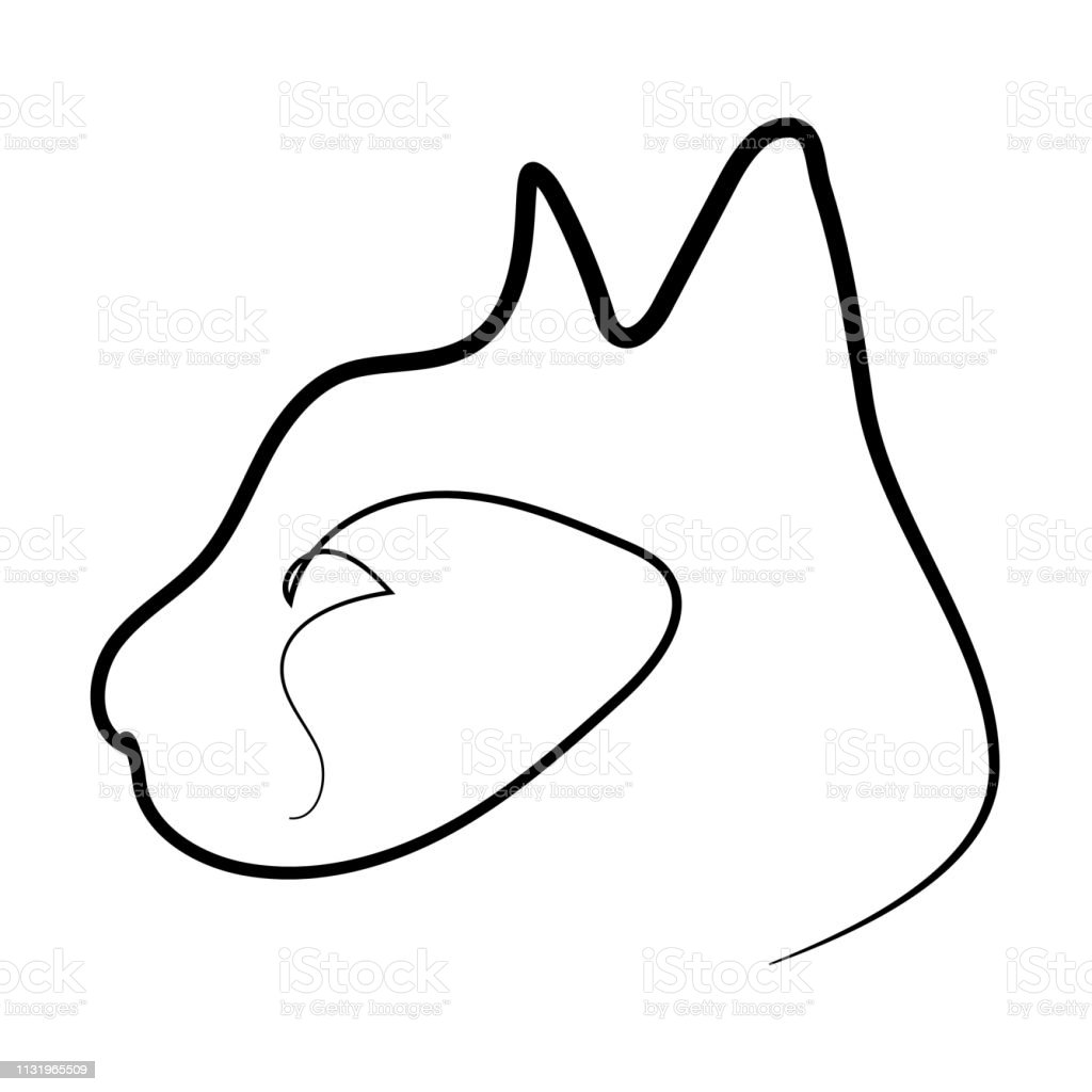 One line cat design silhouette. Vector illustration vector art illustration