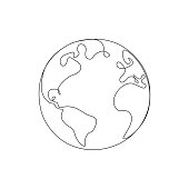 Hands Holding Globe Drawing Stock Illustration - Download Image ...