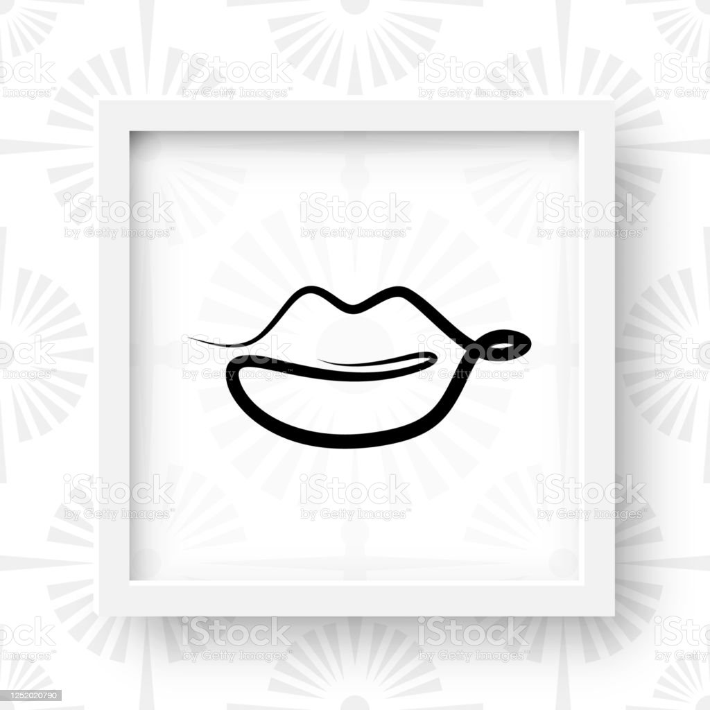 One Line Drawing Lips Beauty Ink Women Lip In Sketch Art Style Continuous Line Draw Mouth Symbol Lips Single Outline Vector Illustration For Interior Design Picture Printing Stock Illustration Download Image