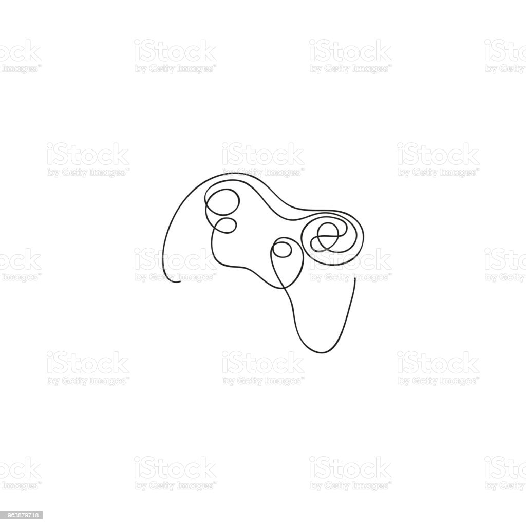 One line electric joystick. Hand drawn vector illustration. - Royalty-free Art stock vector