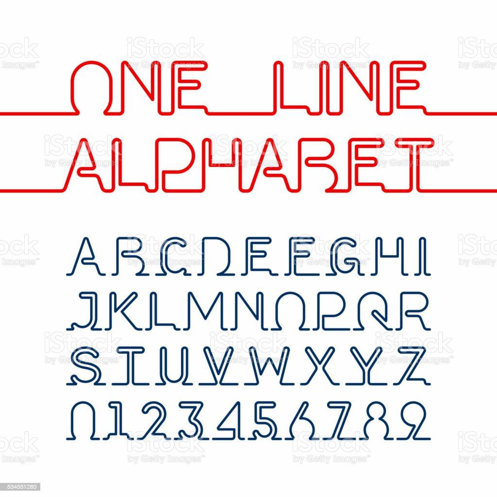 Single line schriftart kostenlos