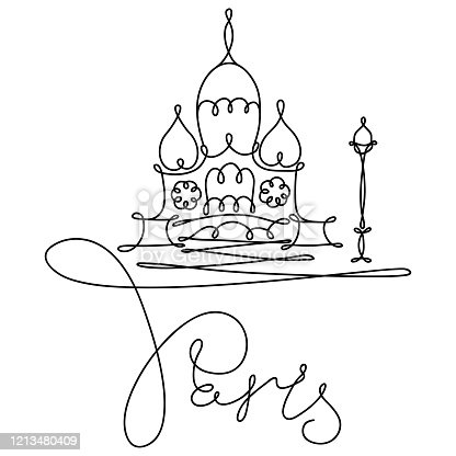 istock One line sketch of Sacre Coeur in Paris 1213480409