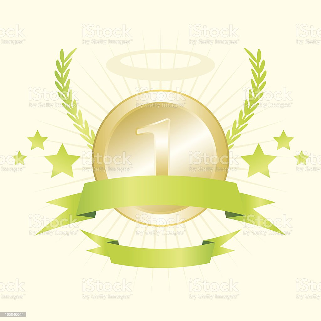 One medal royalty-free stock vector art