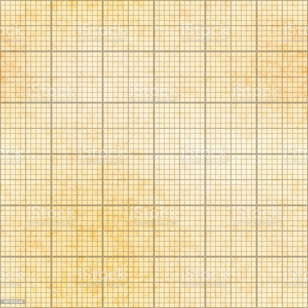 one millimeter grid on old paper seamless pattern 1インチの
