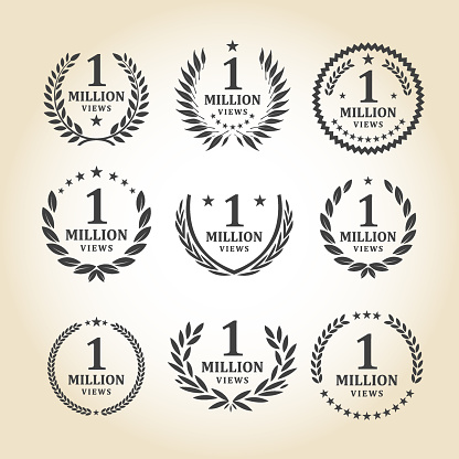 One Million Views Emblem set