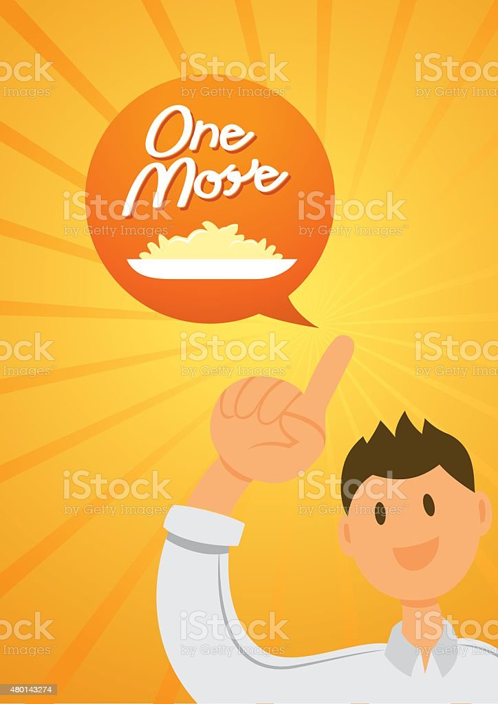 one more with one finger vector art illustration