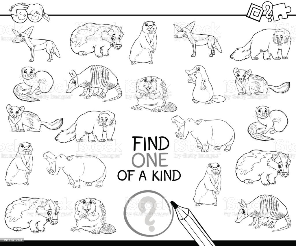 one of a kind coloring book royalty-free one of a kind coloring book stock vector art & more images of animal