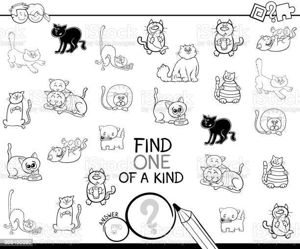 One of a kind game with cat coloring book vector id956450092?b=1&k=6&m=956450092&s=612x612&h=5i8y2jia6y3rptonokwuraij2y9joyl6 bdfhgda8eu=