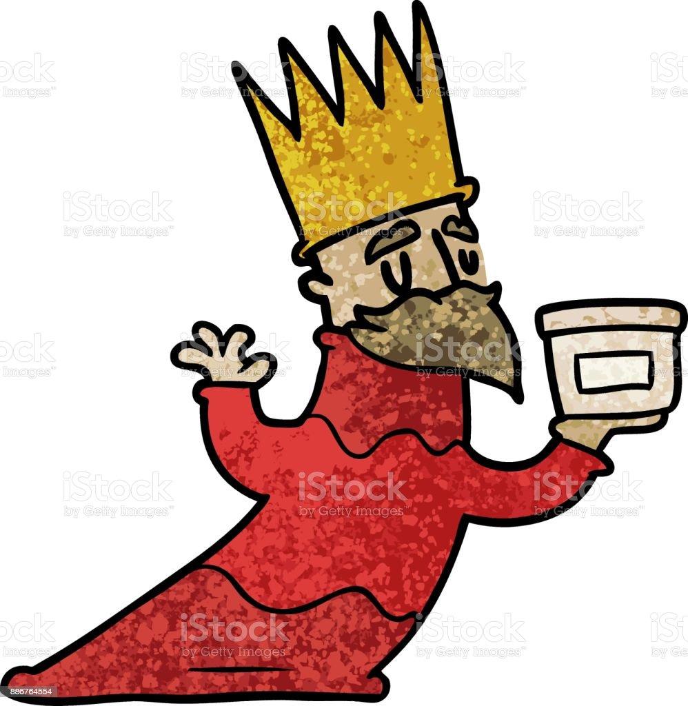 Ilustración De Uno De Los Tres Reyes Magos Dibujos Animados Y Más