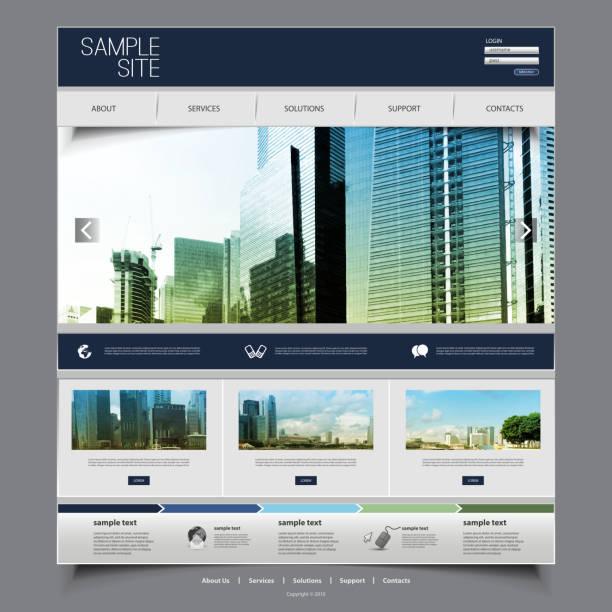 1 つのページ ビジネス サイト テンプレート - webサイト点のイラスト素材/クリップアート素材/マンガ素材/アイコン素材