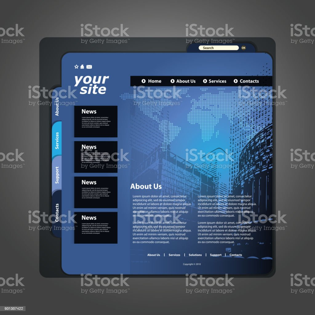 One page business website template stock vector art more images of one page business website template royalty free one page business website template stock vector art wajeb Choice Image