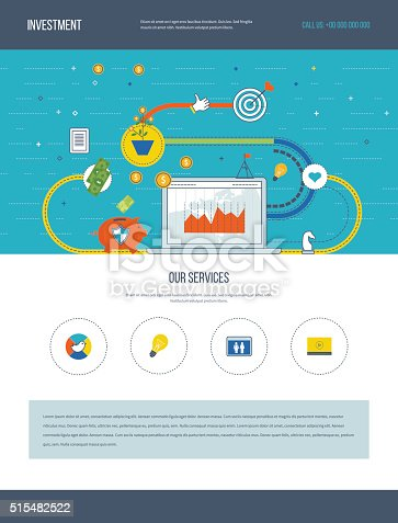 655652514istockphoto One page web design template of business analysis, financial strategy. 515482522