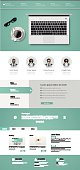 One page website design template.
