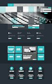 One page website design template, Vector Eps10