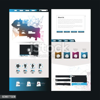 istock One Page Website Template Design 528577328
