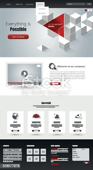 istock One Page Website Template Design 528577678