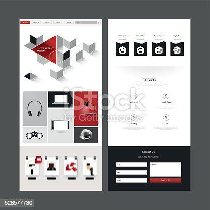 istock One Page Website Template Design 528577730