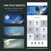 Cloud, Sky - Modern Colorful Abstract Web Site, Flat UI or UX Layout Creative Design Template - User Interface, Icon, Label and Button Designs - Element Set for Your IT, Tech Business, Home Page or Blog - Illustration inFreely Scalable and Editable Vector Format
