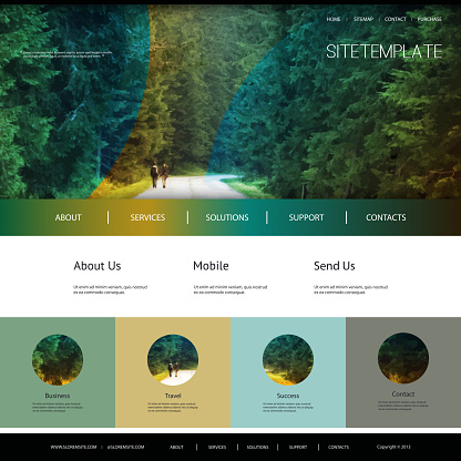 One Page Website Template - Travel, Nature