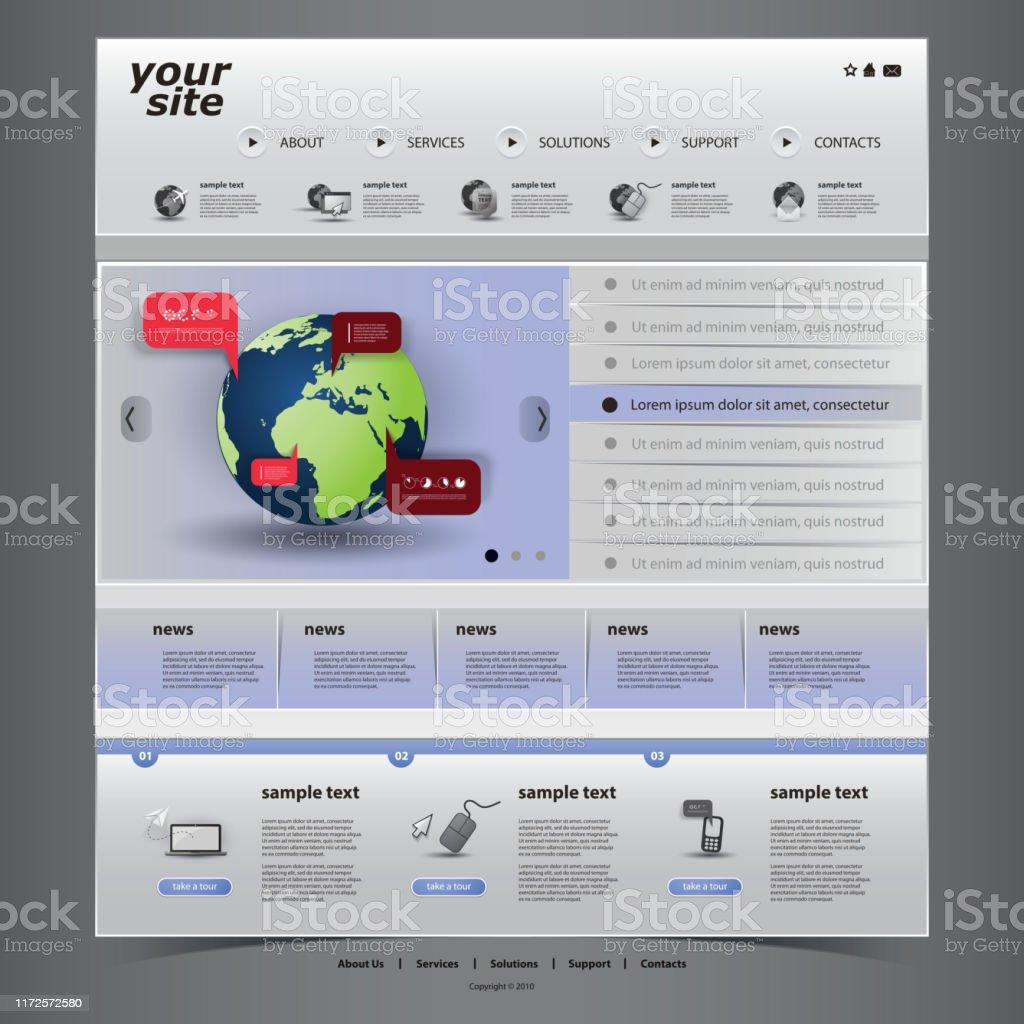 Modele De Site Web Dune Page Vecteurs Libres De Droits Et Plus D Images Vectorielles De Affaires Istock