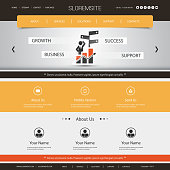 Modern Style Colorful One Page Web Site Creative Design, User Interface Layout, Presentation Template Illustration for Your Business or Blog - Freely Scalable and Editable Vector Format Included