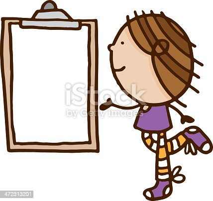 istock One person looking at a clip board 472313201