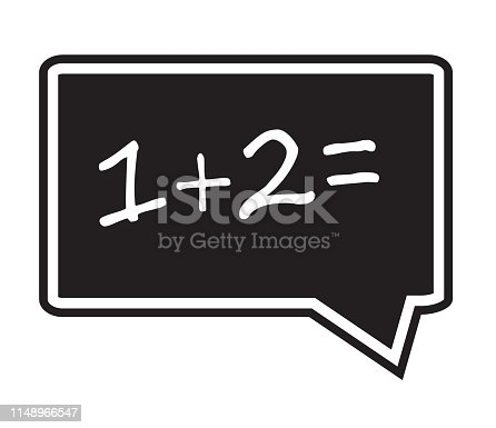 One plus two equals icon on white background. math sign. flat style. One plus two equals icon for your web site design, logo, app, UI.