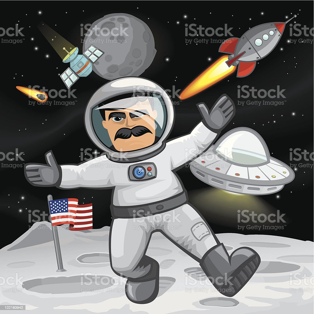 One small step for man... royalty-free stock vector art