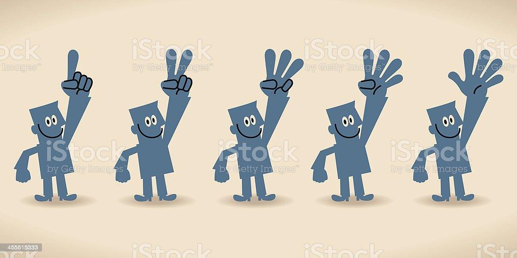 Uno, dos, tres, cuatro cinco - ilustración de arte vectorial