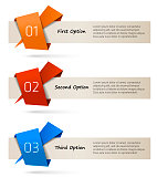 One, two, three options - vector banners