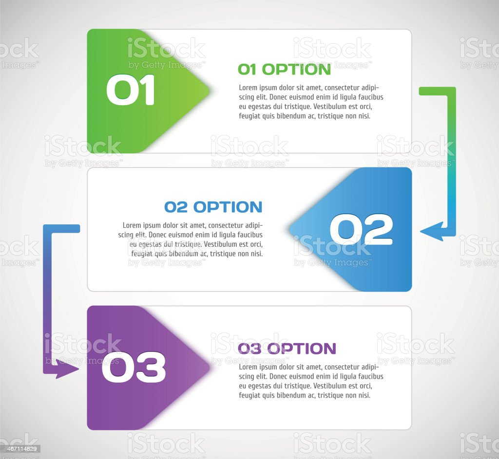One two three - vector progress steps. royalty-free stock vector art